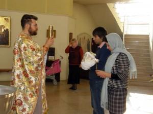 Хрещення Іллі Зленко 31 жовтня 2010