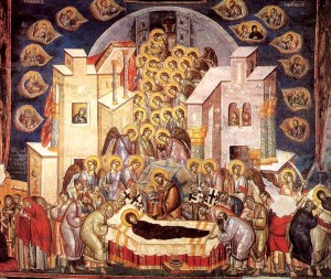 Успіння Богородиці. Охрид. Церква Богоматері Перівлепти. 1294-1295 рр.