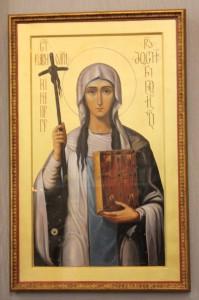 Ікона св. Ніни з реліквіями