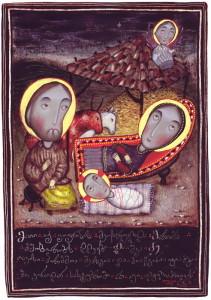 Різдво Христове. Картина Давида Попіашвілі