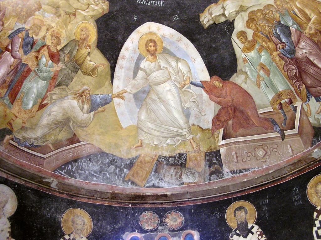 Воскресіння Христове. Фреска церкви Хора в Константинополі