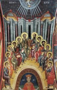 П'ятидесятниця. Фреска монастиря Діонісіат