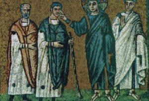 Зцілення сліпого. Церква Сант Аполлінаре Нуово, Равенна, VI ст.